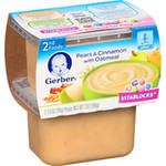 Gerber 2nd Foods Oatmeal Cereal & Pears w/Cinnamon 7 Oz (2-3.5 Oz) Cereal