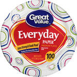 Great Value 8 5/8 Heavy Duty Paper Plates