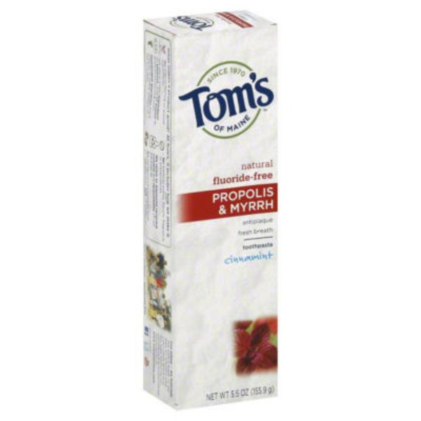 Tom's of Maine Tom's Of Main Propolis & Myrrah Toothpaste Fluoride-Free Cinnamint