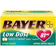 Bayer Safety Coated Low Dose Baby Aspirin Pain Reliever