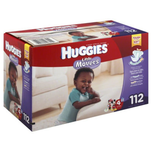 Huggies Supreme Little Movers Size 4 Diapers