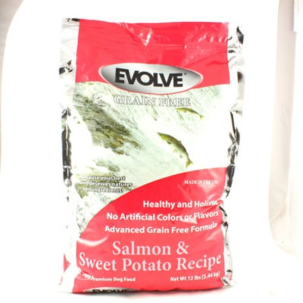 Evolve Super Premium Grain Free Salmon & Sweet Potato Recipe Dog Food