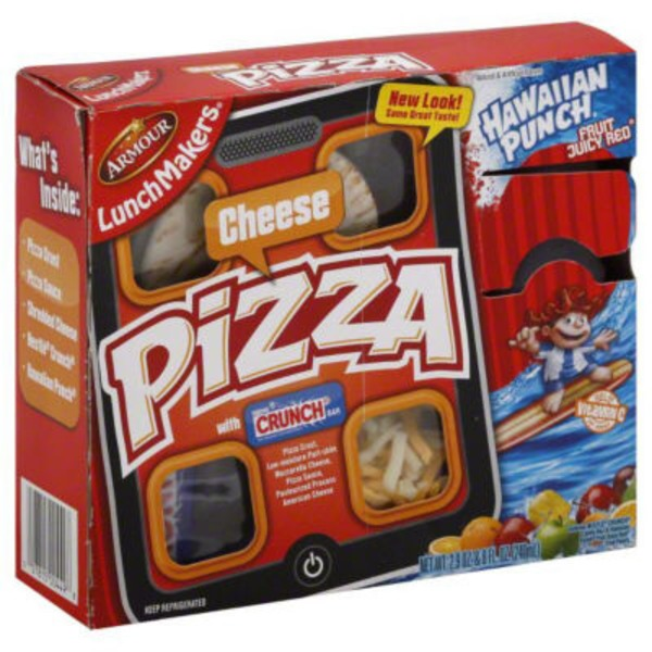 Armour Pizza, Cheese, with Crunch Bar, Hawaiian Punch