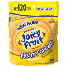 Juicy Fruit Fruity Chews Original Sugarfree Gum