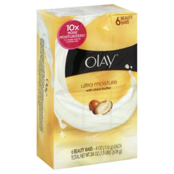 Olay Ultra Moisture Olay Moisture Outlast Ultra Moisture Beauty Bar 3.75 oz 6 count Personal Cleansing