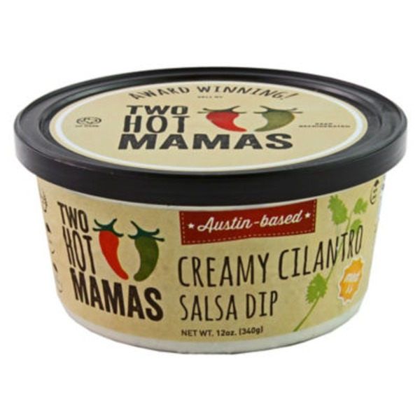 Two Hot Mamas Medium Creamy Cilantro Salsa Dip