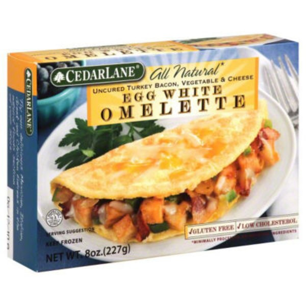 Cedarlane Foods Turkey Bacon Vegetable Omelette Breakfast