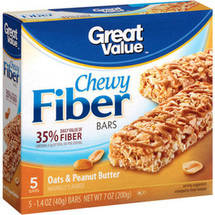 Great Value Fiber Bars Oats & Peanut Butter