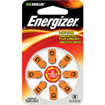 Energizer Size 13 Mercury-Free Hearing Aid Batteries
