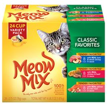 Meow Mix Classic Favorites Wet Cat Food Variety Pack