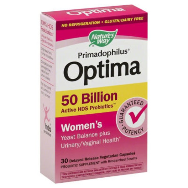 Nature's Way Optima Primadophilus Women's 50 Billion Delayed Release Vegetarian Capsules