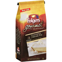 Folgers Gourmet Selections Coconut Cream Pie Ground Coffee