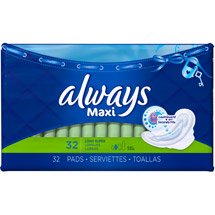Always Maxi Long Super Pads with Flexi-Wings