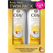 Olay Ultra Moisture Body Wash with Shea Butter (Pack of 2)