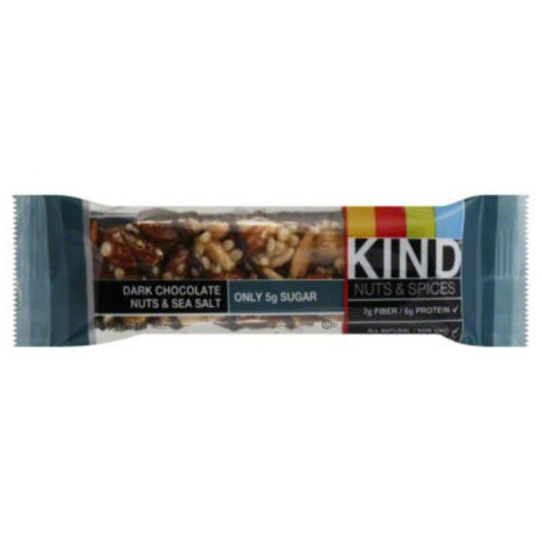 Kind Nuts & Spices Dark Chocolate Nuts & Sea Salt Fruit & Nut Bar