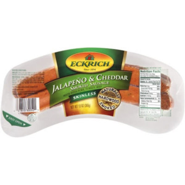 Eckrich Deli Jalapeno & Cheddar Skinless Smoked Sausage