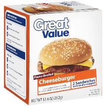 Great Value Flame-Broiled Great Value Flame-Broiled Cheeseburgers