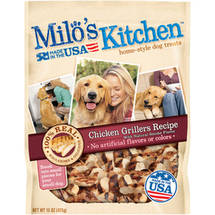 Milo's Kitchen Chicken Grillers Chicken Recipe with Natural Smoke Flavor Dog Treats