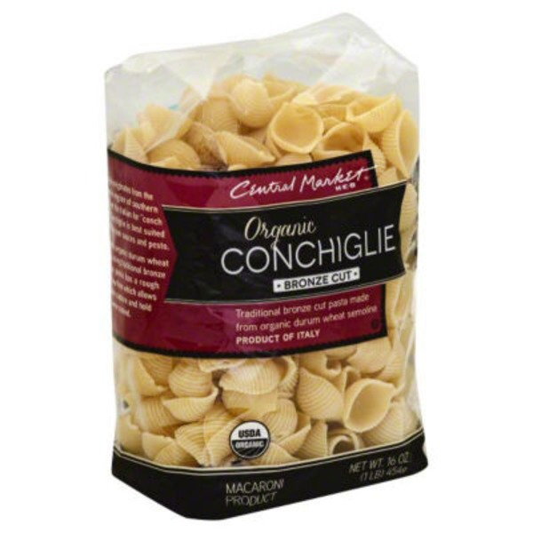Central Market Organic Conchiglie Bronze Cut Pasta