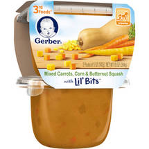 Gerber 3rd Foods Mixed Carrots Corn & Butternut Squash Vegetable Puree with Lil' Bits