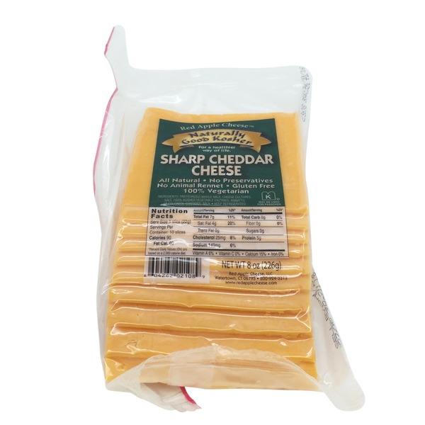 Naturally Good Kosher Cheese, Sharp Cheddar