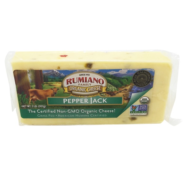 Rumiano Organic Pepper Jack Cheese