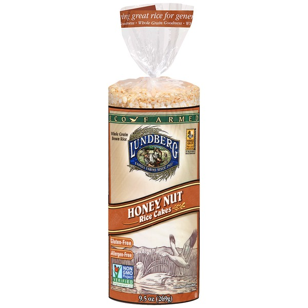Lundberg Family Farms EF Honey Nut Rice Cakes Eco-Farmed Rice Cakes