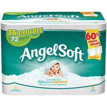 Angel Soft Toilet Paper 36 Double Rolls Bath Tissue