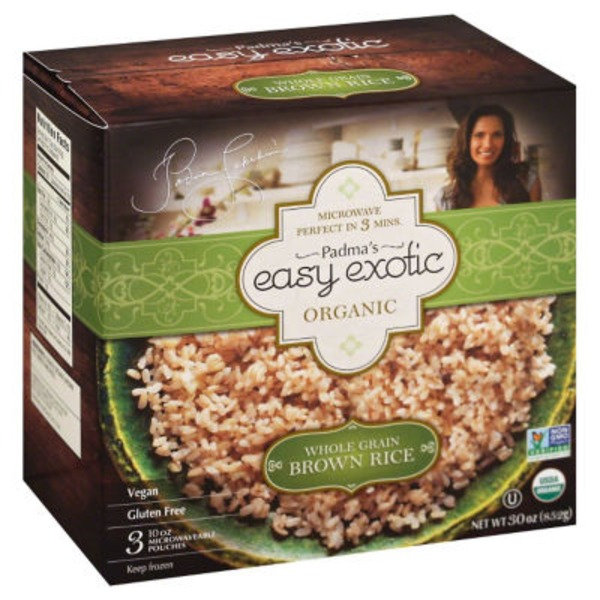 Padma's Easy Exotic Organic Whole Grain Brown Rice Microwaveable Pouches
