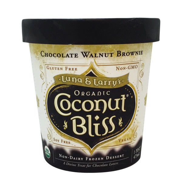 Luna & Larry's Coconut Bliss Organic Coconut Bliss Chocolate Walnut Brownie Dessert