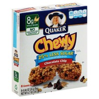 Quaker Chewy 25% Less Sugar Real Chocolate Chip Granola Bars
