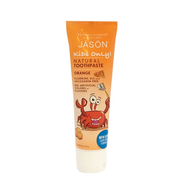 Jason Kids only! Natural Toothpaste, Orange