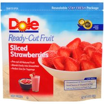 Dole Sliced Ready-Cut Strawberries Fruit