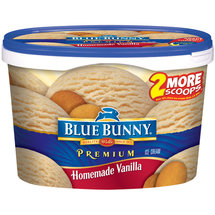 Blue Bunny Frozen Premium Homemade Vanilla 1.75 qt Tub Ice Cream