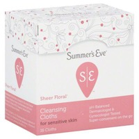 Summer's Eve Sheer Floral Cleansing Cloths
