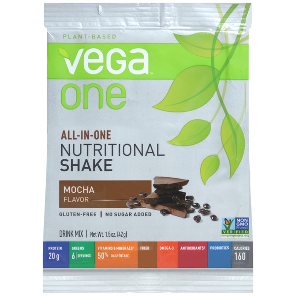 Vega One Plant-Based Mocha Flavor Nutritional Shake Drink Mix