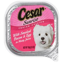 Cesar Canine Cuisine Sunrise With Smoked Bacon & Egg In Meaty Juices Food For Dogs