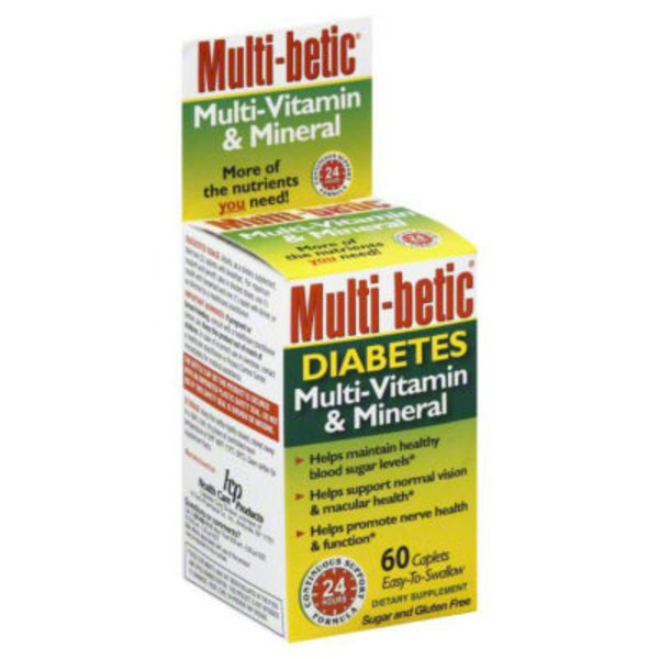Multi Betic Multi-Vitamin Diabetes Caplets Dietary Supplement