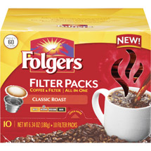 Folgers Classic Roast Medium Coffee Filter Packs