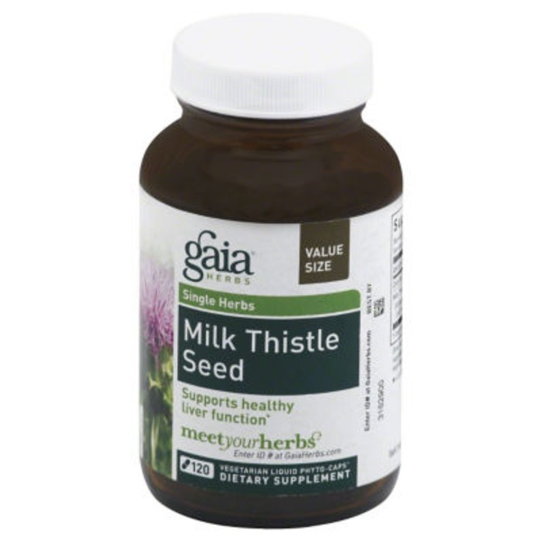 Gaia Herbs Value Size Milk Thistle Seed Liquid Phyto-Caps