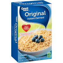 Great Value Original Instant Oatmeal