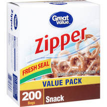 Great Value Zipper Snack Bags
