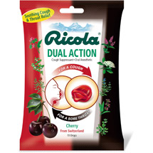 Ricola Dual Action Cherry Cough Suppressant/Oral Anesthetic Drops