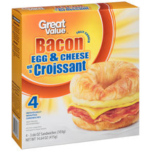 Great Value Bacon Egg & Cheese on a Croissant