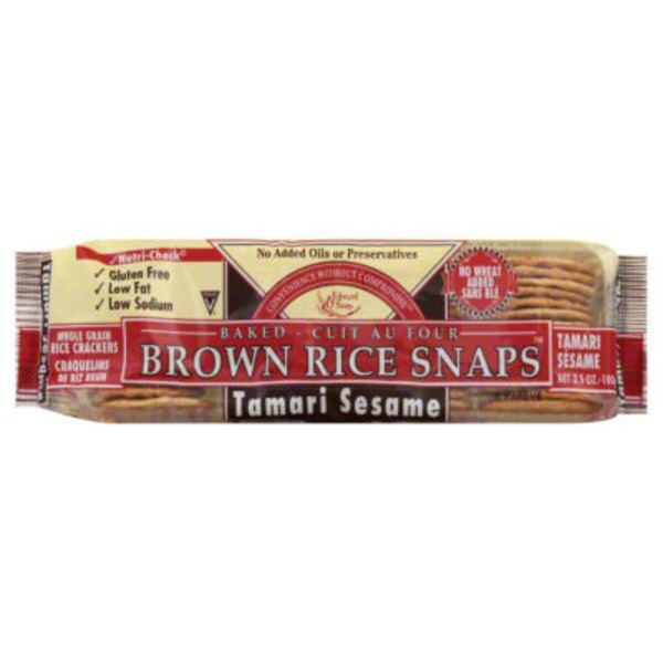Edward & Sons Tamari Sesame Baked Brown Rice Snaps