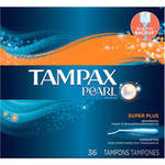 Tampax Pearl Unscented Super Plus Absorbency Tampons
