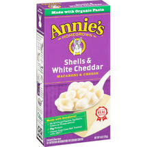 Annie's Natural Macaroni Shells & White Cheddar Cheese