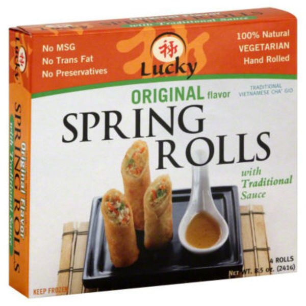 Lucky Original Spring Rolls with Traditional Sauce