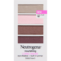 Neutrogena Nourishing Long Wear Eye Shadow + Built-In Primer Cool Plum 10