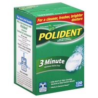 Polident 3 Minute Triple Mint Freshness Tablets Antibacterial Denture Cleanser